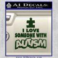 Autism Awareness Decal Sticker Puzzle Dark Green Vinyl 120x120