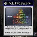 Autism Awareness Decal Sticker Puzzle Glitter Sparkle 120x120