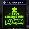 Autism Awareness Decal Sticker Puzzle Lime Green Vinyl 120x120