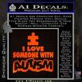 Autism Awareness Decal Sticker Puzzle Orange Emblem 120x120