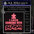 Autism Awareness Decal Sticker Puzzle Pink Emblem 120x120