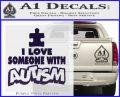 Autism Awareness Decal Sticker Puzzle PurpleEmblem Logo 120x97