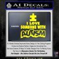 Autism Awareness Decal Sticker Puzzle Yellow Laptop 120x120