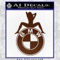 BMW Sexy Emblem Decal Sticker BROWN Vinyl 120x120