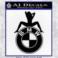 BMW Sexy Emblem Decal Sticker Black Vinyl 120x120