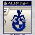 BMW Sexy Emblem Decal Sticker Blue Vinyl 120x120