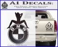 BMW Sexy Emblem Decal Sticker Carbon FIber Black Vinyl 120x97