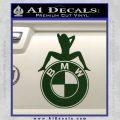 BMW Sexy Emblem Decal Sticker Dark Green Vinyl 120x120
