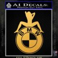 BMW Sexy Emblem Decal Sticker Gold Vinyl 120x120