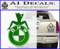 BMW Sexy Emblem Decal Sticker Green Vinyl Logo 120x97