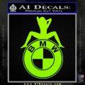 BMW Sexy Emblem Decal Sticker Lime Green Vinyl 120x120