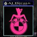 BMW Sexy Emblem Decal Sticker Pink Hot Vinyl 120x120