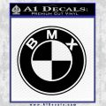 BMX Bike Decal Sticker BMW Parody Black Vinyl 120x120