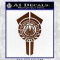 BSG Battlestar Galactica Banner BSG 75 Decal Sticker Battle Star Galactica BROWN Vinyl 120x120