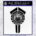 BSG Battlestar Galactica Banner BSG 75 Decal Sticker Battle Star Galactica Black Vinyl1 120x120