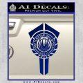 BSG Battlestar Galactica Banner BSG 75 Decal Sticker Battle Star Galactica Blue Vinyl 120x120