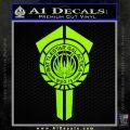 BSG Battlestar Galactica Banner BSG 75 Decal Sticker Battle Star Galactica Lime Green Vinyl 120x120