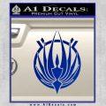 BSG Colonial Seal Decal Sticker Battle Star Galactica Blue Vinyl Black 120x120
