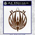 BSG Colonial Seal Decal Sticker Battle Star Galactica Brown Vinyl Black 120x120