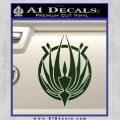 BSG Colonial Seal Decal Sticker Battle Star Galactica Dark Green Vinyl Black 120x120