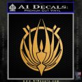 BSG Colonial Seal Decal Sticker Battle Star Galactica Gold Metallic Vinyl Black 120x120