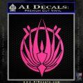 BSG Colonial Seal Decal Sticker Battle Star Galactica Neon Pink Vinyl Black 120x120
