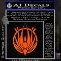 BSG Colonial Seal Decal Sticker Battle Star Galactica Orange Emblem Black 120x120