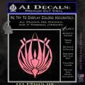 BSG Colonial Seal Decal Sticker Battle Star Galactica Soft Pink Emblem Black 120x120