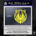 BSG Colonial Seal Decal Sticker Battle Star Galactica Yellow Vinyl Black 120x120