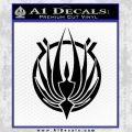BSG Colonial Seal Decal Sticker Black Battle Star Galactica Vinyl Black 120x120