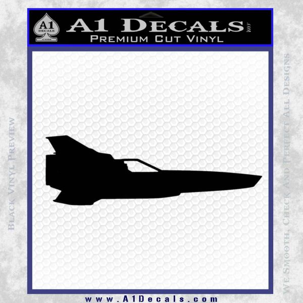 BSG Colonial Viper MK II Side View Decal Sticker Battle Star Galactica Black Vinyl