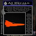 BSG Colonial Viper MK II Side View Decal Sticker Battle Star Galactica Orange Emblem 120x120