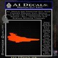 BSG Colonial Viper MK VII Side View Decal Sticker Battle Star Galactica Orange Emblem 120x120