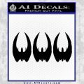 BSG Cylon Raider 3 Pack Decal Sticker Battle Star Galactica Black Vinyl 120x120