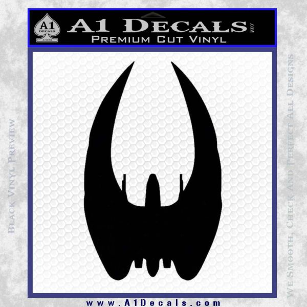BSG Cylon Raider Battlestar Galactica Decal Sticker Battle Star Galactica Black Vinyl