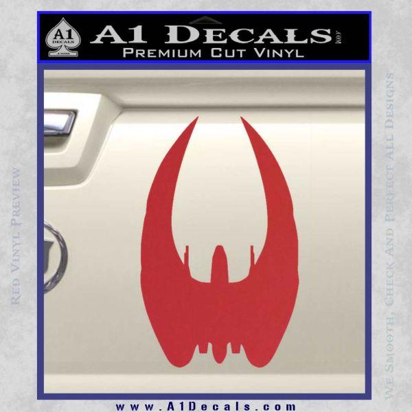 Battlestar Galactica BSG 75 Cylon Raider Custom Replacement Vinyl Die-Cut Decals