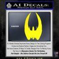 BSG Cylon Raider Battlestar Galactica Decal Sticker Battle Star Galactica Yellow Laptop 120x120