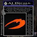BSG Cylon Raider New Series Alternate Decal Sticker Battle Star Galactica Orange Emblem 120x120