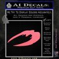 BSG Cylon Raider New Series Alternate Decal Sticker Battle Star Galactica Pink Emblem 120x120