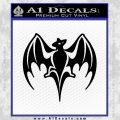 Bacardi Decal Sticker Bat D2 Black Vinyl 120x120