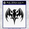 Bacardi Decal Sticker Bat D2 Black Vinyl 120x120
