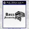 Bass Assassin Fishing Decal Sticker Black Vinyl 120x120