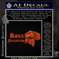 Bass Assassin Fishing Decal Sticker Orange Emblem 120x120