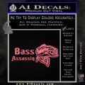 Bass Assassin Fishing Decal Sticker Pink Emblem 120x120