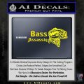 Bass Assassin Fishing Decal Sticker Yellow Laptop 120x120