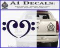 Bass Clef Heart Decal Sticker PurpleEmblem Logo 120x97