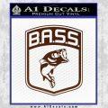 Bass Fishing Decal Sticker Emblem BROWN Vinyl 120x120