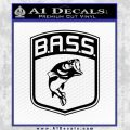 Bass Fishing Decal Sticker Emblem Black Vinyl 120x120