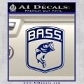 Bass Fishing Decal Sticker Emblem Blue Vinyl 120x120