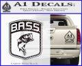 Bass Fishing Decal Sticker Emblem Carbon FIber Black Vinyl 120x97